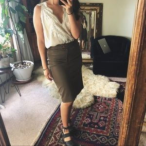 VINTAGE/ fitted pencil skirt